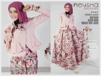 model baju muslim pesta modern Pusat-Gamis-Terbaru-Balimo-Neysha-Sakura-(A083)-Dusty-Pink