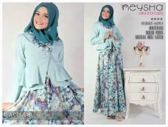baju muslim hari ini Pusat-Gamis-Terbaru-Balimo-Neysha-Sakura-(A083)-biru-Telur-Asin