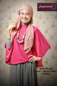 model baju pesta sifon Pusat-Gamis-Terbaru-Batflo-Blouse-by-Supernova-Pink-Magenta