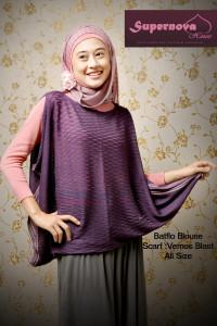model baju yg lg trend Pusat-Gamis-Terbaru-Batflo-Blouse-by-Supernova-Ungu-Tua