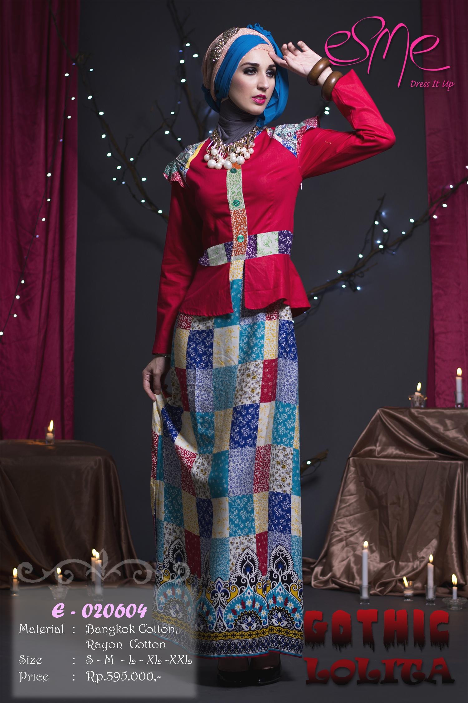 Esme Gothic Lolita E 020604 Baju Muslim Gamis Modern