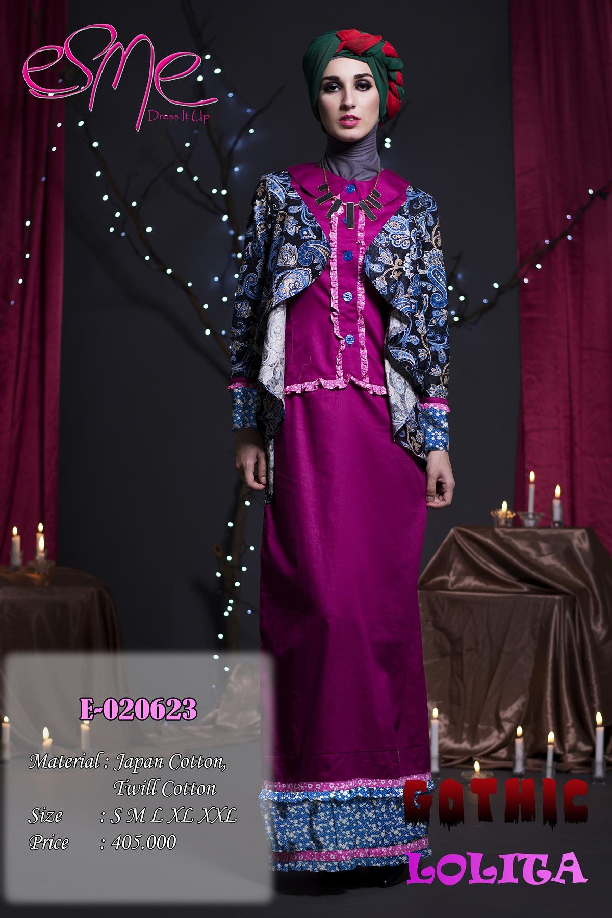 Esme Gothic Lolita E 020623 Baju Muslim Gamis Modern