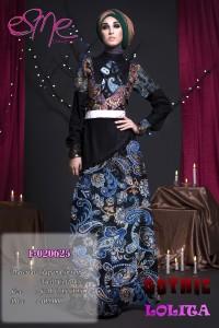Model busana muslim pesta wanita Pusat-Gamis-Terbaru-E-020625 cp