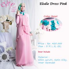 baju muslim simple elegan Pusat-Gamis-Terbaru-Elodie-Dress-Pink