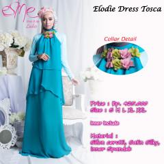 baju muslim fashion terbaru Pusat-Gamis-Terbaru-Elodie-Dress-Tosca