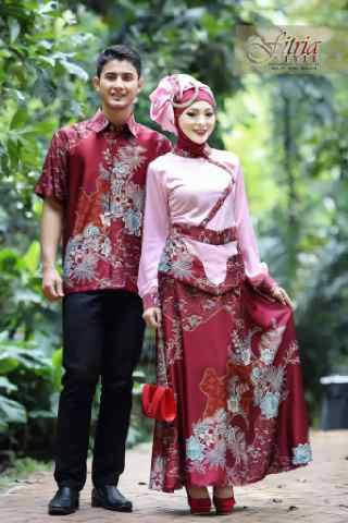 Fasa Syifa Couple Merah Baju Muslim Gamis Modern
