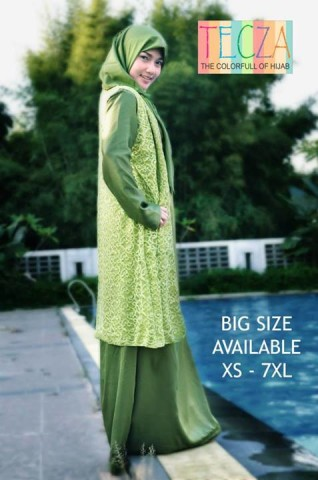 baju muslim modern dan elegan Pusat-Gamis-Terbaru-Fatimah-Dress-by-DR-Style-Muslim-Hijau