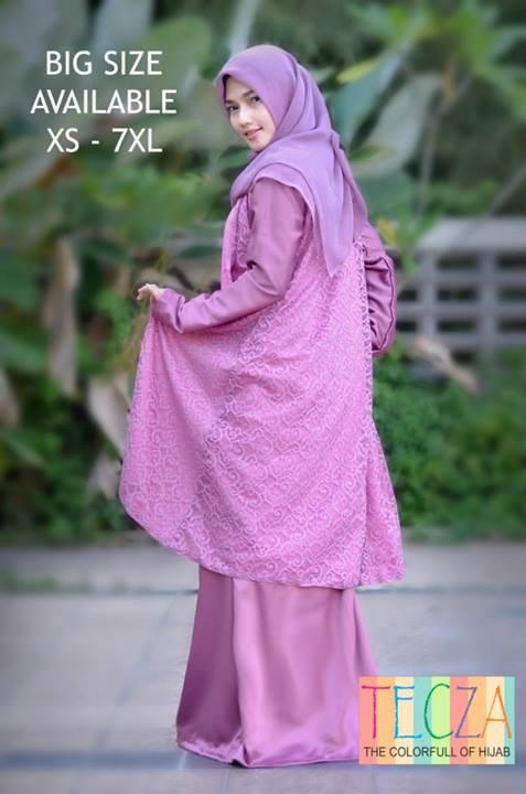 Fatimah Dress Merah Baju Muslim Gamis Modern