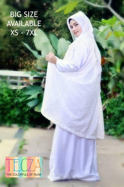 Fatimah Dress Putih Baju Muslim Gamis Modern