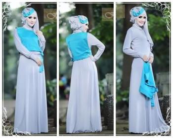 baju muslimah modis Pusat-Gamis-Terbaru-Hafadah-by-Fitria-Style-Abu-Silver
