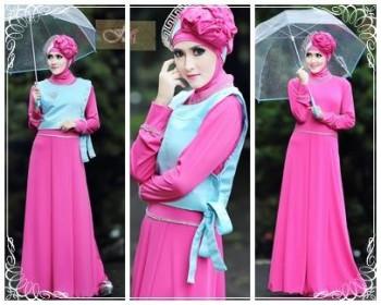 baju muslimah pesta Pusat-Gamis-Terbaru-Hafadah-by-Fitria-Style-Fanta
