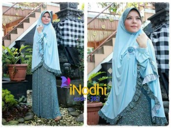 model Baju hijabers Style Pusat-Gamis-Terbaru-Inodhi-Kode-282
