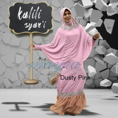 model baju muslim pesta terbaru Pusat-Gamis-Terbaru-Kalili-Syar'i-by-Mayra-Dusty-Pink