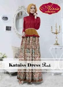 model baju muslim modern Pusat-Gamis-Terbaru-Katniss-Dress-by-Airia-Red