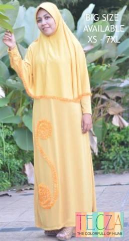 baju muslim terbaru Pusat-Gamis-Terbaru-Khadijah-Dress-by-DR-Style-Muslim-Orange