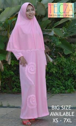 model baju muslim elegan Pusat-Gamis-Terbaru-Khadijah-Dress-by-DR-Style-Muslim-Pink