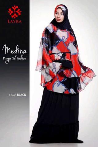 model baju gamis pesta muslimah Pusat-Gamis-Terbaru-Mukena-Medina-By-Layra-Black