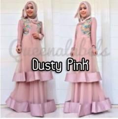 baju muslimah modern Pusat-Gamis-Terbaru-Olveira-by-Queena-Dusty-Pink