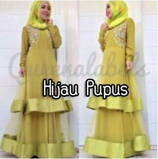 Olveira By Queena Hijua Pupus Baju Muslim Gamis Modern