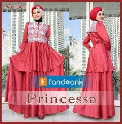 baju muslim elegan wanita Pusat-Gamis-Terbaru-Princessa-by-Efandoank-Maroon