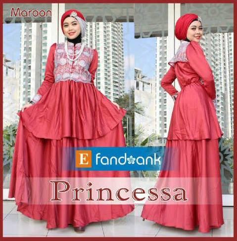 Princessa By Efan Maroon Baju Muslim Gamis Modern