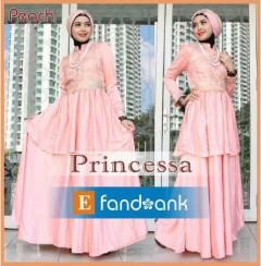 busana muslim fashion terbaru Pusat-Gamis-Terbaru-Princessa-by-Efandoank-Peach