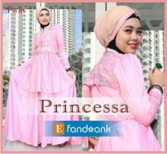 baju muslimah anggun Pusat-Gamis-Terbaru-Princessa-by-Efandoank-Pink