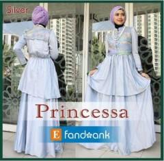 baju muslimah modis Pusat-Gamis-Terbaru-Princessa-by-Efandoank-Silver