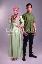 baju muslim modern full Pusat-Gamis-Terbaru-Radya-Ramdhan-Green