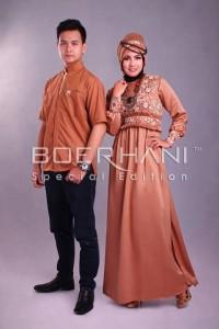 baju muslimah online Pusat-Gamis-Terbaru-Radya-Ramdhan-Light-Brown