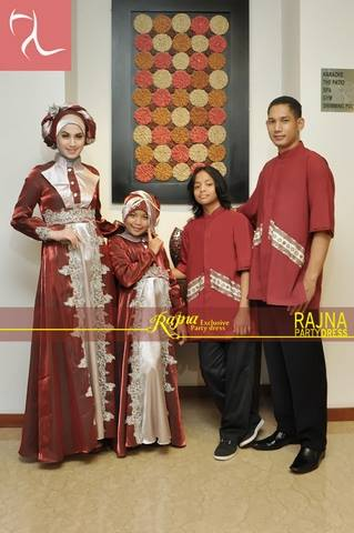 sarimbit couple modern Pusat-Gamis-Terbaru-Rajna-11-Sarimbit-Marun