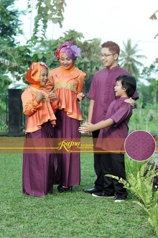 sarimbit muslim ayah bunda Pusat-Gamis-Terbaru-Rajna-16-Orange-Purple