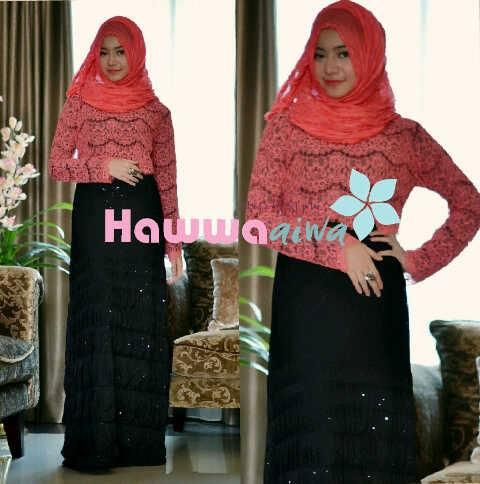 Saphira Vol 2 Hitam Baju Muslim Gamis Modern