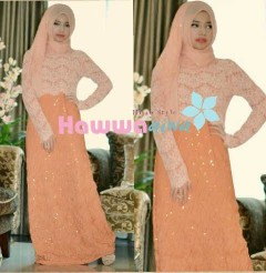 model baju dress pesta muslim Pusat-Gamis-Terbaru-SAPHIRA-Vol-2-by-Hawwa-Aiwa-Orange