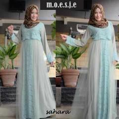 model baju terbaru muslim Pusat-Gamis-Terbaru-Sahara-by-Moesje-Dusty-Green