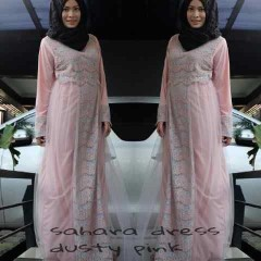 model baju kerja wanita Pusat-Gamis-Terbaru-Sahara-by-Moesje-Dusty-Pink