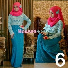 baju muslim elegan online Pusat-Gamis-Terbaru-Saphira-Vol-by-Hawwa-aiwa-Kode-6