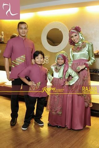 gamis sarimbit ibu dan anak Pusat-Gamis-Terbaru-Sarimbit-Rajna-14-Dusty-Pink