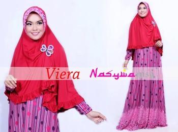 baju muslim modern untuk kerja Pusat-Gamis-Terbaru-Viera-by-Nasywannisa-Pink
