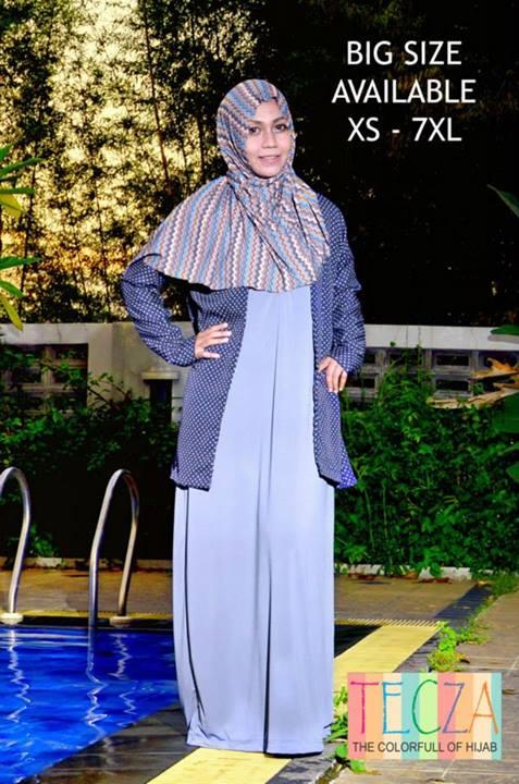 busana gamis modern Pusat-Gamis-Terbaru-Zaenab-Dress-by-DR-Style-Muslim-Biru