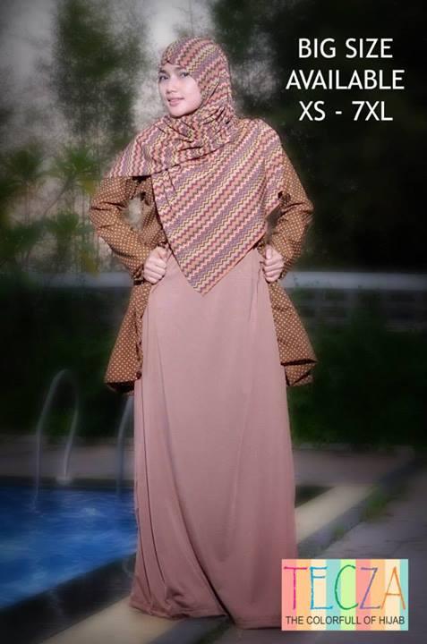 model baju yang lagi tren Pusat-Gamis-Terbaru-Zaenab-Dress-by-DR-Style-Muslim-Coklat