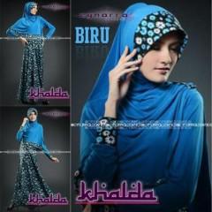 baju muslim elegan wanita Pusat-Gamis-terbaru-Khalda-by-Cynarra-Biru