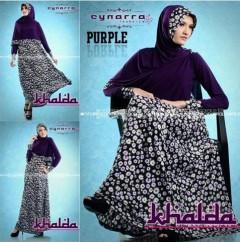 baju muslimah cantik Pusat-Gamis-terbaru-Khalda-by-Cynarra-Purple