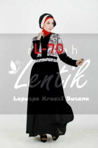 baju muslim modern online shop Pusat-Gamis-terbaru-L70-by-Lentik-Black