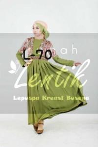 busana muslim terbaru hari ini Pusat-Gamis-terbaru-L70-by-Lentik-Green