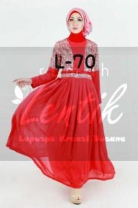 baju muslim hijab terbaru Pusat-Gamis-terbaru-L70-by-Lentik-Red