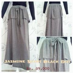 rok panjang yang elegan Pusat-Gamis-terbaru-New-Jasmine-Skirt-by-Zelia-Black-Dot