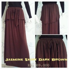 rok panjang facebook Pusat-Gamis-terbaru-New-Jasmine-Skirt-by-Zelia-Dark-Brown