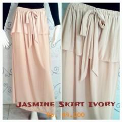 fashion rok panjang terbaru Pusat-Gamis-terbaru-New-Jasmine-Skirt-by-Zelia-Ivory