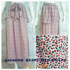 model baju rok wanita Pusat-Gamis-terbaru-New-Jasmine-Skirt-by-Zelia-Red-Polka